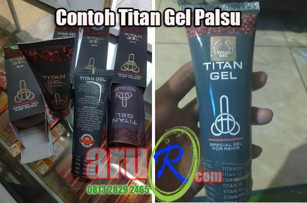 cream titan gel palsu